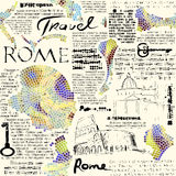 Rome newspaper background Royalty Free Stock Images