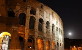 Rome at night. Colloseum in Rome Italy at night Stock Images