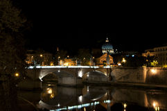 Rome by night. Rome, Italy. A view of rome and vatican by night Stock Images