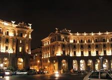 Rome by night. A night shot of piazza della Repubblica in Rome Stock Image