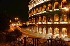 Rome at night. Coliseum in Rome at night Stock Photo