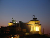 Rome at night. View on Monumento a Vittorio Emanuele II (Rome, Italy) at night Royalty Free Stock Image