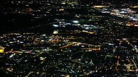 Rome night aerial view. stock footage