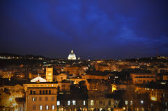 Rome night from balcony Stock Images