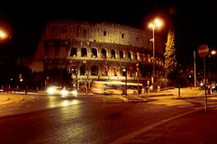 Rome. The Colosseum in the Night. Rome. Night. The Coliseum in the Light of Street Lights Royalty Free Stock Photography