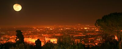 Night view over Rome. A night view over the city of Rome Royalty Free Stock Photo