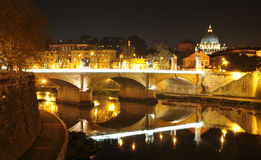 Rome - night panorama Stock Photos