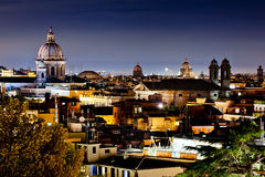 Rome at night. Panorama view of Rome city at night Royalty Free Stock Images