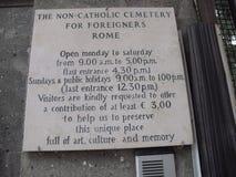 Rome The Non Catholic Cemetery stock image