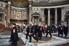 ROME-NOVEMBER 6: Members the House of Savoy in Roman Pantheon on November 6,2010 in Rome, Italy. The House of Savoy is royal famil Royalty Free Stock Photography