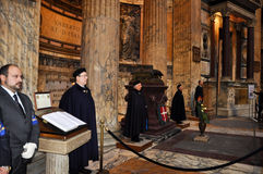 ROME-NOVEMBER 6: Members the House of Savoy in Roman Pantheon on November 6,2010 in Rome, Italy. Royalty Free Stock Image