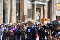 ROME-NOVEMBER 6: Members the House of Savoy in Roman Pantheon on November 6,2010 in Rome, Italy. Royalty Free Stock Photo
