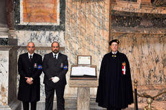 ROME-NOVEMBER 6: Members the House of Savoy in Roman Pantheon on November 6,2010 in Rome, Italy. Royalty Free Stock Photos