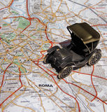Rome by Old Car Royalty Free Stock Photos