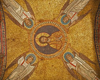 Rome - old mosaic from roof of side chapel from Sa Stock Photos