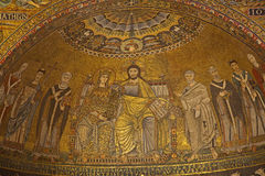 Rome - old mozaik of Mary and Jesus Royalty Free Stock Photo