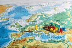 Rome op een kaart in Spaanse taal Stock Afbeelding