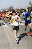 Rome-Ostia halv maraton Arkivfoton