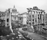 Rome - outlook to Forum Romanum Royalty Free Stock Photography