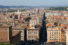 Rome - outlook from Vittorio Emanuele monument Stock Photo