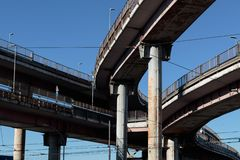 Rome overpass. stock image