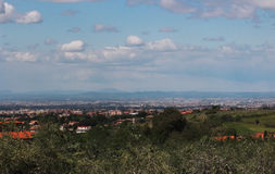 Rome overview from Alban Hills Royalty Free Stock Photography