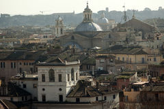 Rome overview with monument Royalty Free Stock Photo