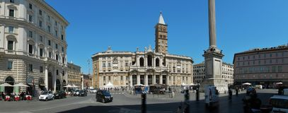 Rome - Overview of the Papal Basilica of Santa Maria Maggiore stock photography