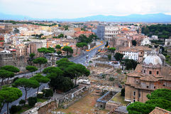 Rome overview stock image