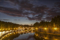 Rome på natten Arkivfoton