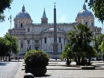 Rome - påvlig basilika av Santa Maria Maggiore Arkivfoto