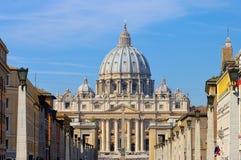 Rome påvlig basilika av St Peter Arkivfoton