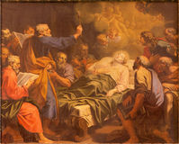 Rome - The paint of The Dormition of Virgin Mary by Angelo Masserotti (1645 - 1723) in church Chiesa di Santa Maria Annunziata. Royalty Free Stock Image