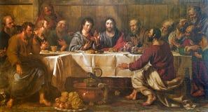 Rome - paint of Last super of Christ Stock Photo
