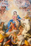 Rome - Painting of The Mystic Marriage of St.  Robert to Our Lady by Giovanni Odazzi (1663 - 1731). In church Chiesa di San Bernardo alle Terme Royalty Free Stock Image