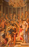 Rome - The painting of st. Paul before the Ananias by Giorgio Vasari in church San Pietro in Montorio from 16. cent. Stock Photography