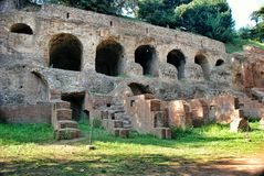 Rome, Palatine.Circus Maximus Stock Photos