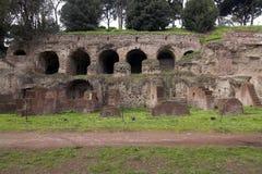 Rome - Palatine Heuvel - ingang Stock Afbeelding