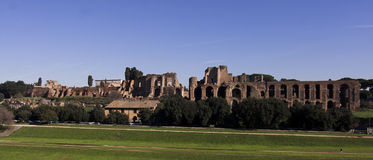 Rome - Palatine Hill - bath of Septimius Severus Royalty Free Stock Photography