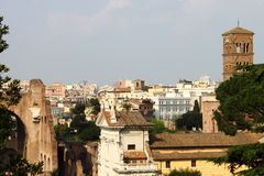 Rome from the Palatine hill Royalty Free Stock Image