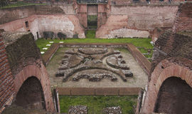 Rome - Palatine Hill - third court Royalty Free Stock Images