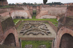Rome - Palatine Hill - third court Stock Image