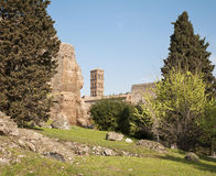 Rome - Palatine hill and tower of church Royalty Free Stock Photos