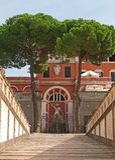 Rome, Palazzo Barberini. Courtyard of the Palazzo Barberini, Rome, Italy stock image