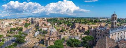 Rome panorama city skyline Stock Images