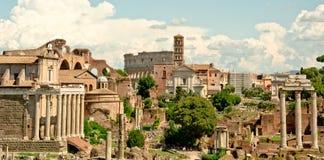 Rome panorama - forumromanum Royaltyfri Fotografi