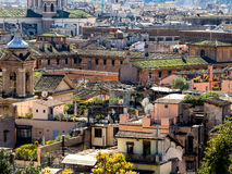 Rome panorama with green roof gardens Royalty Free Stock Image