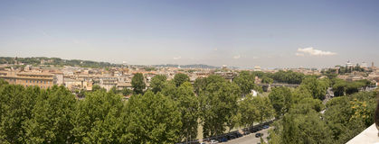 Rome. A panorama of Rome Italy from a hill in Rome including the dome of St Peter's Basilaca in the Vatican Cityn Royalty Free Stock Photo