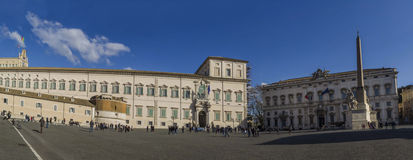 Rome panorama quirinale palace and costitutional cort Stock Image