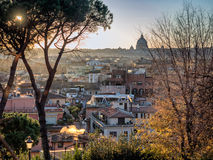 Rome panorama with roof gardens Stock Photos
